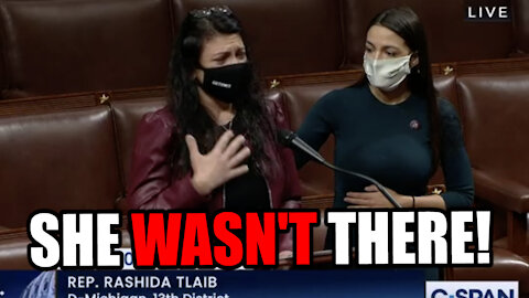 Rashida Tlaib BREAKSDOWN about Capitol Riots