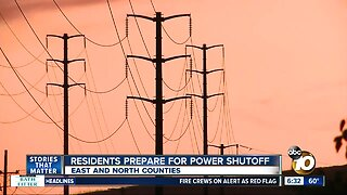 Power shutoffs begin for many East County residents