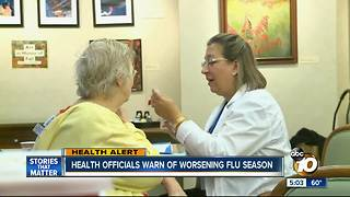 Health officials warn of worsening flu season - Video