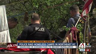 KCPD conducts sweep at homeless camps in Kessler Park - Video