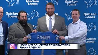 Lions select Arkansas center Frank Ragnow in NFL Draft first round
