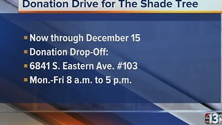 Donation Drive for the Shade Tree - Video
