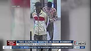 Henderson Police seek bank robbery suspects - Video