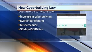 New cyberbullying law goes into effect Wednesday
