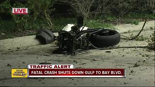 Motorcyclist killed in crash in Clearwater - Video