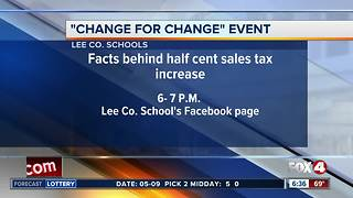 Lee County schools holding online information session about sales tax proposal - Video