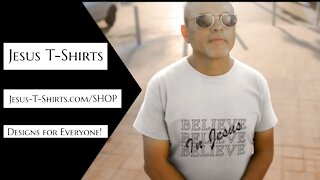 Believe In Jesus T-Shirts Mockup Video by Jesus T-Shirts