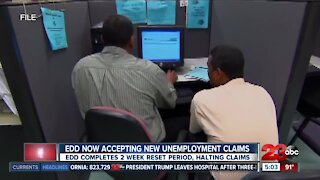 EDD now accepting new unemployment claims