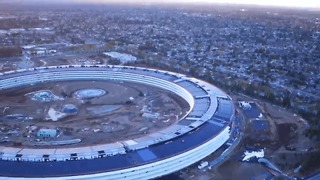 Aerial Video Shows Stunning Progress at New Apple Campus - Video