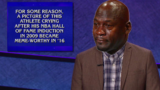 Crying Jordan Becomes a Jeopardy Question - Video