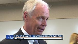 Sen. Johnson will advance health care bill to start debate - Video