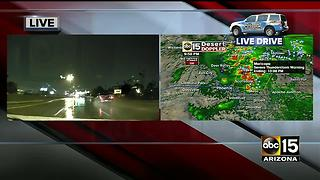 Storm rolls into the Valley Sunday night - Video