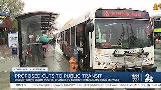 Proposed cuts to public transit