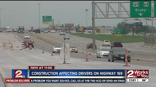 Construction affecting drivers on Highway 169 - Video
