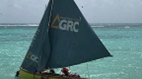 Boaters Bailing in Guadeloupe