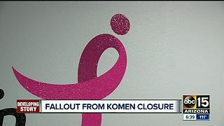 Cancer support community rallies after Susan G. Komen Arizona closure - Video