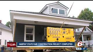 Habitat for Humanity homes built at Indiana State Fair moved to permanent communities - Video