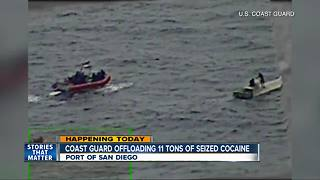 Coast Guard offloading drugs from operation in San Diego