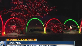Livonia home decorated with more than 55,000 lights - Video