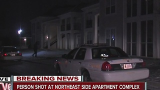 Person shot at northeast side apartment complex - Video