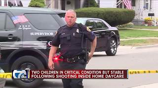 Children taken to police station after shooting at home daycare - Video