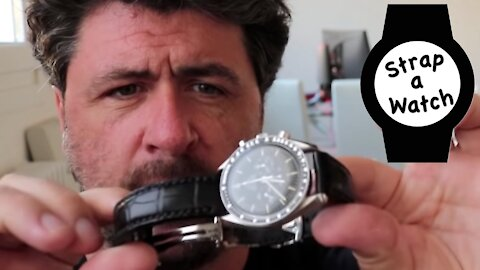 "Oisin O'Malley's ""THE BEAST"" Alligator Watch Strap for his Speedmaster ~ The Timeless Watch Channel!"