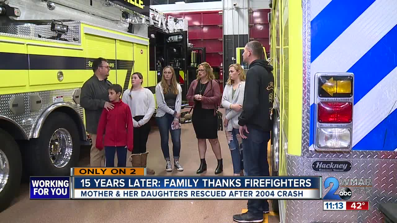 15 years later: Family thanks firefighters after 2004 crash