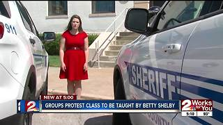 Groups protest class taught by Betty Shelby