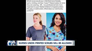 Nurses Union: printed scrubs will be allowed - Video