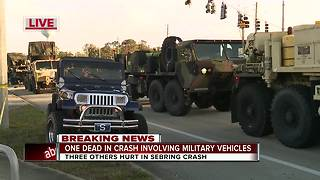 Sebring Police investigating fatal crash involving 3 military vehicles