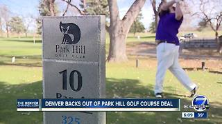 Denver suspends proposed plan to buy Park Hill Golf Course over leasing dispute - Video