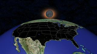 The solar eclipse forceast