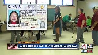 Judge: KS voters don't need proof of citizenship - Video