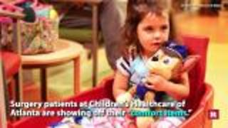 Kids find comfort in stuffed animals before surgery | Rare News - Video