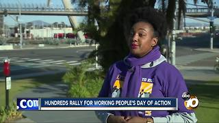 Union workers rally ahead of Surpreme Court case - Video