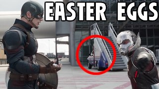 CAPTAIN AMERICA CIVIL WAR Easter Eggs - Video