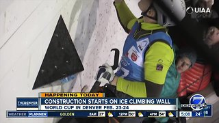 Construction starts on ice climbing wall