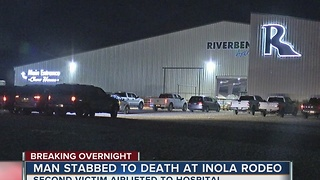 Man fatally stabbed at an Inola rodeo - Video