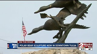 On the Road: Polar bear sculpture comes to downtown Tulsa