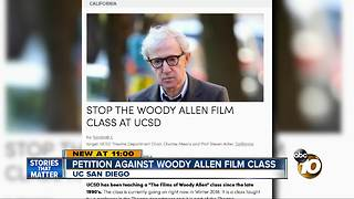 Petition agains Wood Allen film class at UCSD - Video