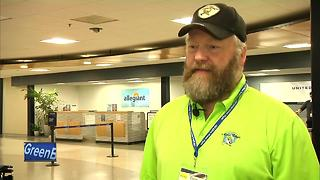 honor flight takes off from Appleton International Airport - Video