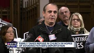 Family takes refuge in church in hopes of avoiding father's deportation - Video