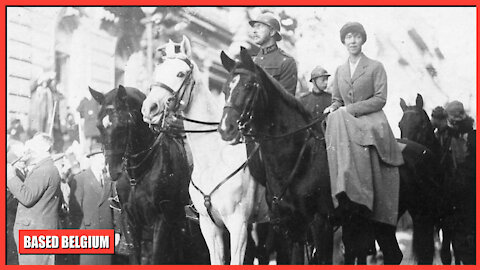 22 November 1918, King Albert I of the Belgians leads Victory March in Brussels