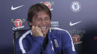 Conte gets into fits of laughter over Costa's latest comments - Video