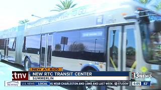 New RTC Transit Center in Summerlin - Video