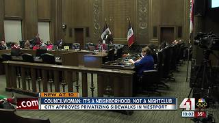 City approves privatization of Westport sidewalks - Video