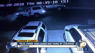 Truck owner: Video shows man 'taking livelihood' - Video