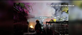 Crews find 2 dead goats in Las Vegas shed fire