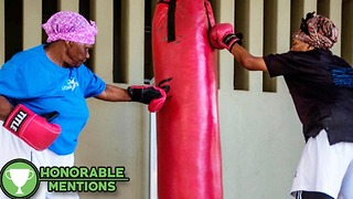 These Boxing Grandmas Have More Offense Than Floyd Mayweather -HM - Video