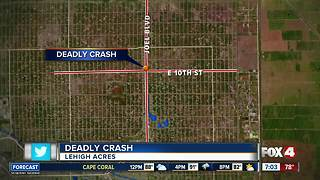 Driver dead after running stop sign in Lehigh Acres Tuesday - Video